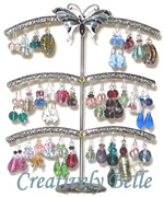 WIN Earring stands and 3 Pairs of Earrings