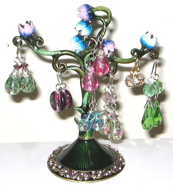 Enamel Floral Earring Tree