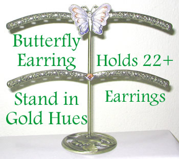This Earring Stand Holds 20+ Pairs of Earrings!