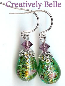 Stunning Handcrafted Lampwork Earrings!