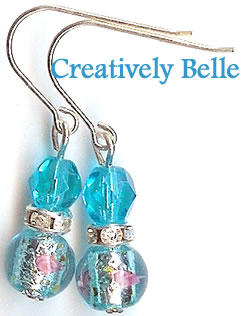 Sea Fresh Aqua Blue Earrings!