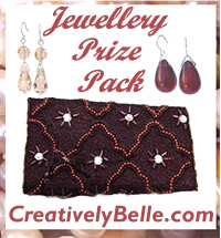 Creatively Belle Jewellery Roll and Earrings Jewellery Prize Pack Online Competition