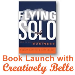 You're invited to come along to the Flying Solo book launch with Creatively Belle