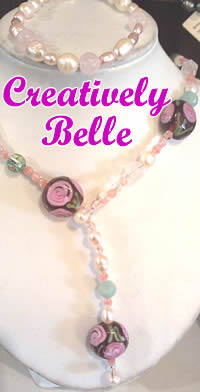 Limited Edition pink necklace with pearls and treasures by Creatively Belle