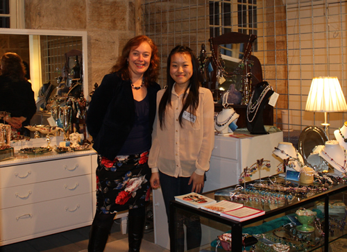 Belinda and Si in the Creatively Belle shop at the Rocks Pop Up Project at 47 George St,  Sydney