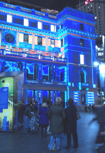 Stunning effects at Vivid for Custom House