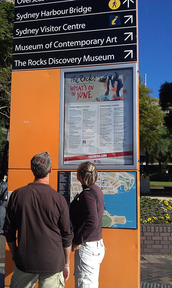 Look - The Rocks Pop Up Project on a poster!