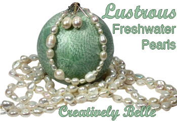 Freshwater pearl jewellery is ideal for bridal jewellery