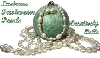 Beautiful freshwater pearl jewellery online with Creatively Belle
