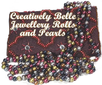 Long freshwater pearl necklaces and jewellery rolls paid for with you jewellery party hostess gift voucher