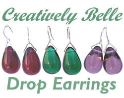 Colourful drop earrings by Creatively Belle
