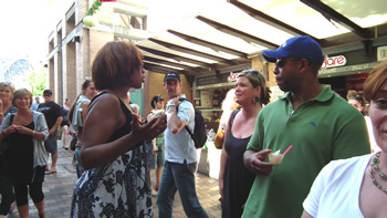 Gayle King at the Rocks Markets