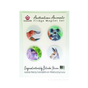 Charming watercolour Australian themed magnet gifts