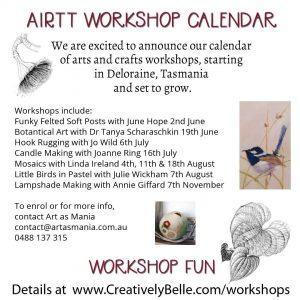 Artist in Residence Trail Tasmania Workshop Calendar