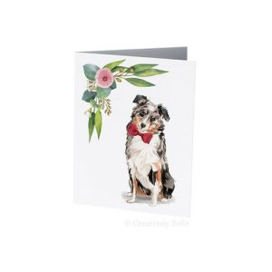 Australian Shepherd gum blossom designed by Creatively Belle