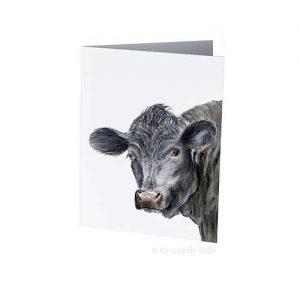 Black Angus Bull Greeting Card