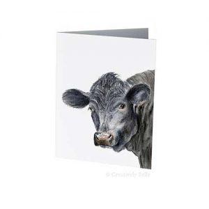 Black Angus Bull Greeting Card