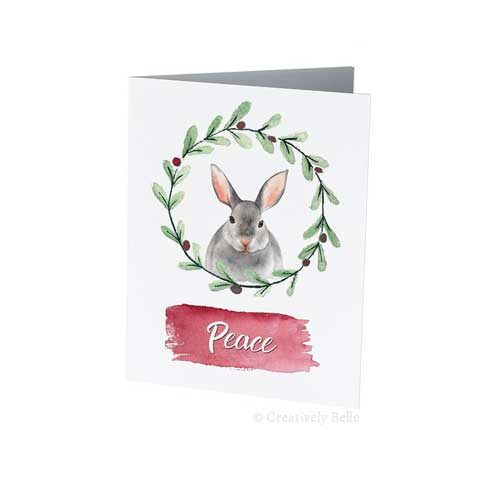 Christmas and seasons greetings card messages sayings and quotes christmas peace bunny festive card m4hsunfo