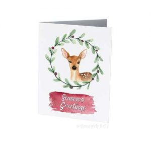 Season's Greetings Deer Christmas Greeting Card