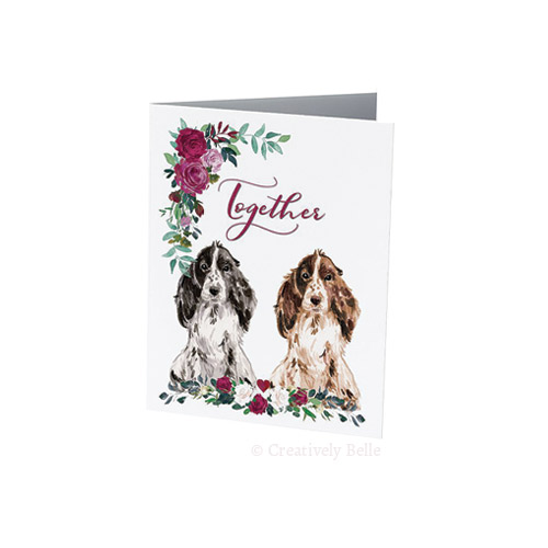 Cocker Spaniels Together with roses designed by Creatively Belle