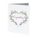 Congratulations Heart Field Flowers Greeting Card Creatively Belle printed in Australia