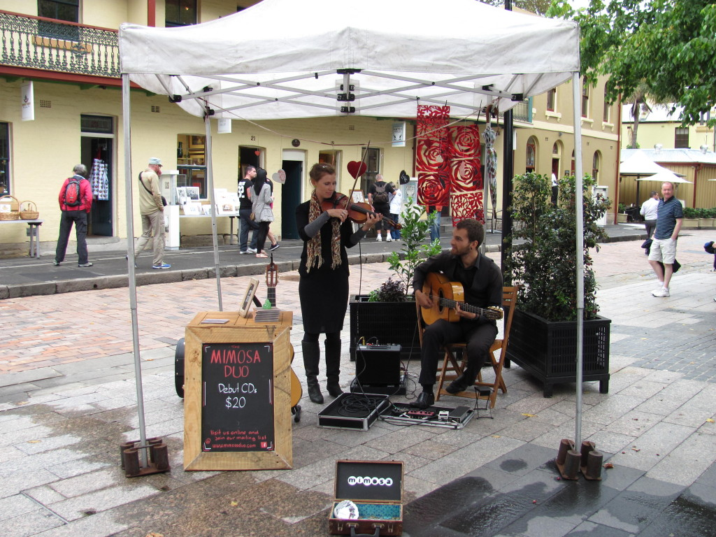 Live music at The Rocks Markets, Sydney