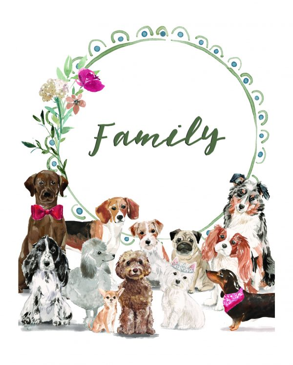 12 Dogs and Family Love celebration