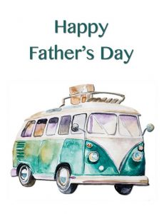 Happy Father's Day Combi Van Greeting Card by Creatively Belle