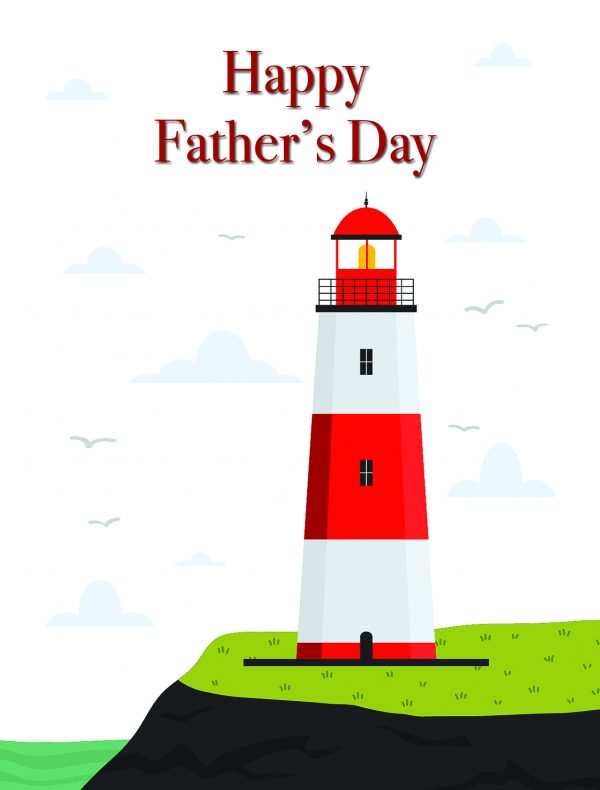 Happy Father's Day Lighthouse Greeting Card by Creatively Belle