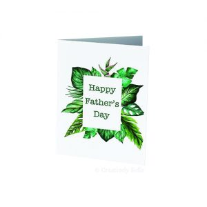 Tropical leaves for the cool dad with this Father's Day card
