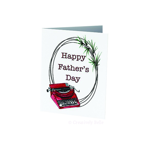 Celebrate Father's Day with this beautiful Type Writer themed card