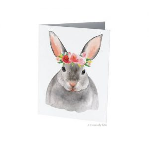 Floral Bunny Rabbit Greeting Card from Creatively Belle
