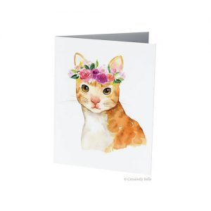 Floral Cat Greeting Card from Creatively Belle