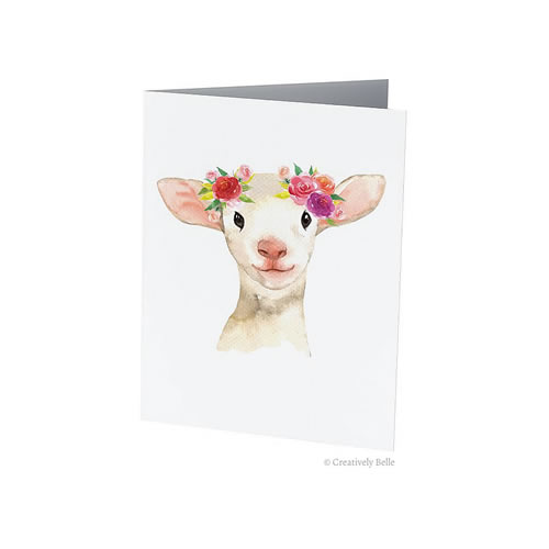 Floral Lamb Greeting Card from Creatively Belle