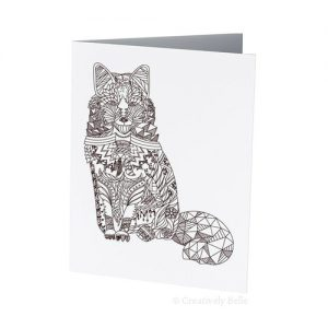 Fox Colour Therapy Greeting Card