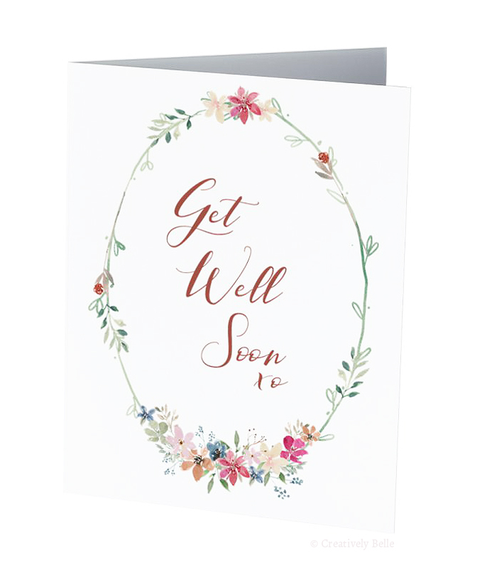 Perfect card to send your best wishes for a speedy recovery