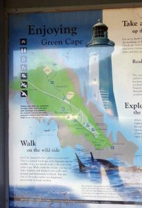 Sign for Green Cape Lighthouse