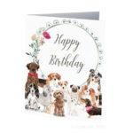 A Dozen dogs saying Happy Birthday!