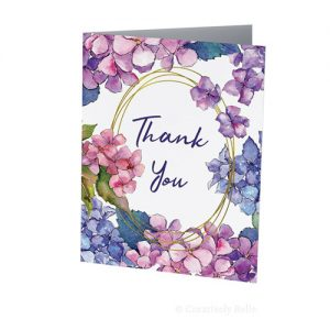 Hydrangea Thank You Greeting Card designed by Creatively Belle