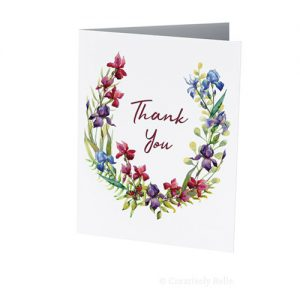 Iris and Butterfly Thank You card by Creatively Belle