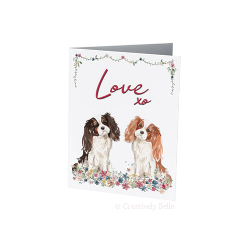 Cavalier King Charles Spaniel love greeting cards