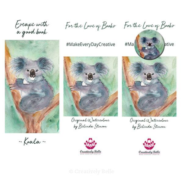Australian Made Koala Bookmark and Magnet Gift