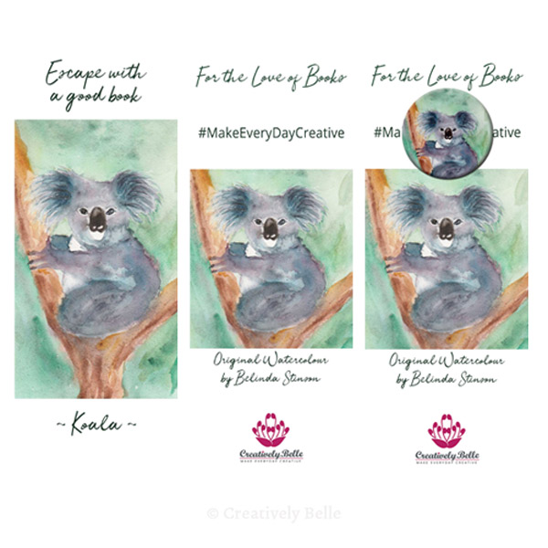Australian Made Koala Bookmark and Magnet Gift