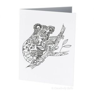 Koala Colour Therapy Greeting Card