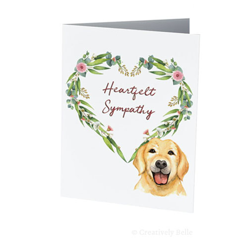 Heartfelt Sympathy pet dog greeting card