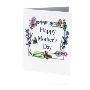 Lavender and Butterflies Mother's Day card is blank inside