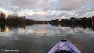 Paddling in my Kayak