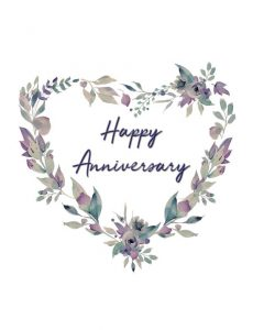 Pastel Happy Anniversary Greeting Card by Creatively Belle