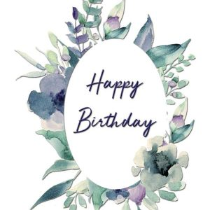 Happy Birthday Greeting Card by Creatively Belle