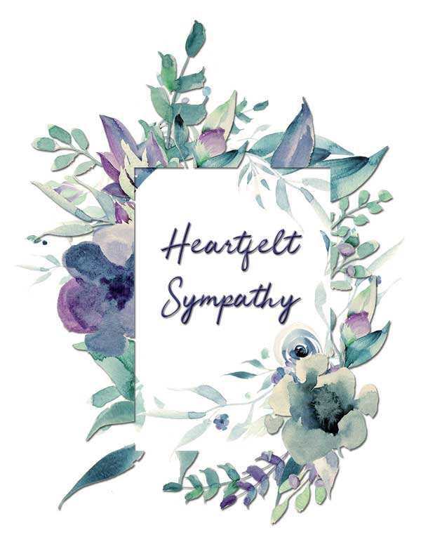 Heartfelt Sympathy Greeting Card by Creatively Belle